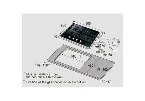 Встраив. газовая панель Samsung NA64H3010AK, фото 5