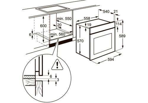 Электрический духовой шкаф Electrolux EZB53430AW, фото 3