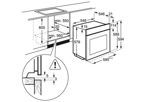 Электрический духовой шкаф AEG BEM455120M, фото 6