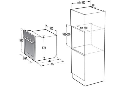 Электрический духовой шкаф Gorenje BO735E20X-M, фото 3