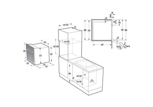 Электрический духовой шкаф Gorenje BO737E20WG-M, фото 3