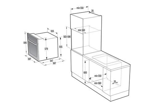 Электрический духовой шкаф Gorenje BO737E20X-M, фото 3