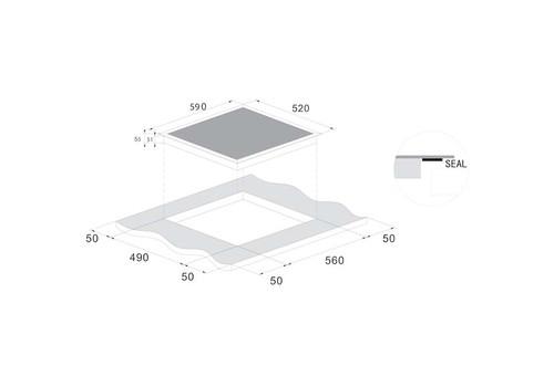 Встраиваемая индукционная панель Candy CI642CTT, фото 4