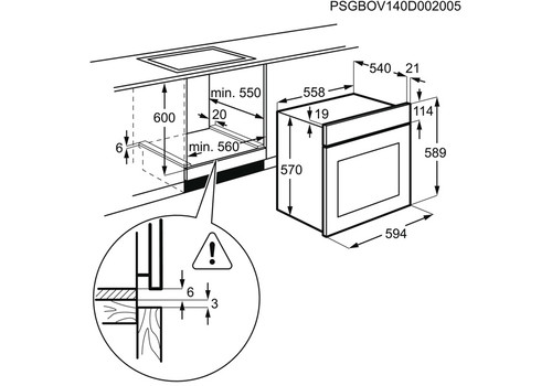 Электрический духовой шкаф Electrolux Intuit 600 OEF5E50Z, фото 3
