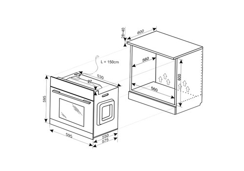 Электрический духовой шкаф Hansa BOEIS69407, фото 4