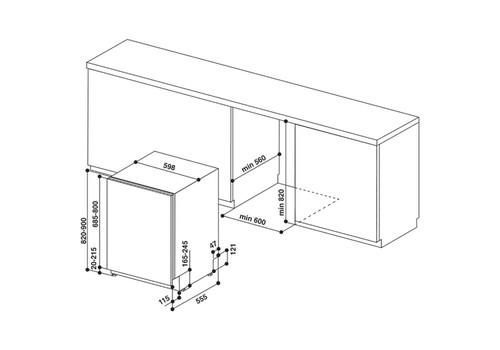 Встраиваемая посудомоечная машина 60 см Hotpoint-Ariston HIE 2B19 C N, фото 6