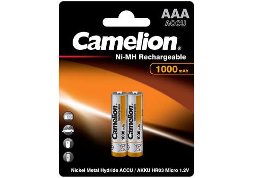 Аккумулятор Camelion AAA 1000mAh Ni-Mh BL-2, фото 1