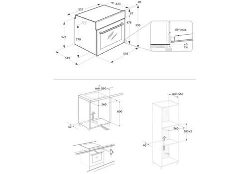 Электрический духовой шкаф Indesit IFW 3841 JH IX серебристый, фото 3