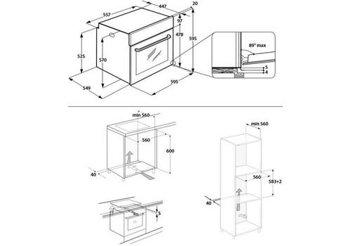 Электрический духовой шкаф Hotpoint-Ariston 7O 5FA 841 JH IX HA серебристый, фото 3