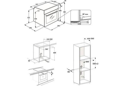 Электрический духовой шкаф Hotpoint-Ariston FA5 841 JH BL HA, фото 3