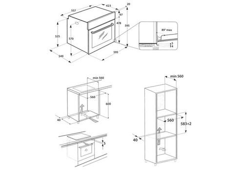 Электрический духовой шкаф Indesit IFW 4534 H WH белый, фото 3