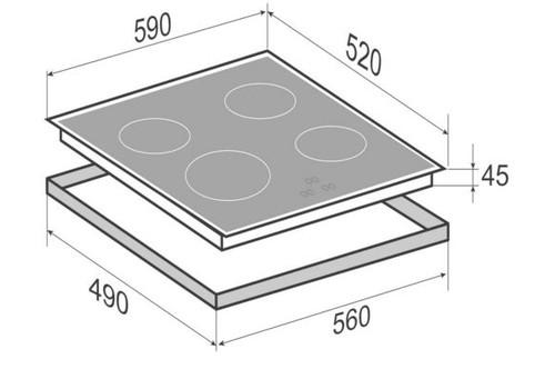 Индукционная варочная поверхность Zigmund & Shtain CIS 331.60 BX, фото 2