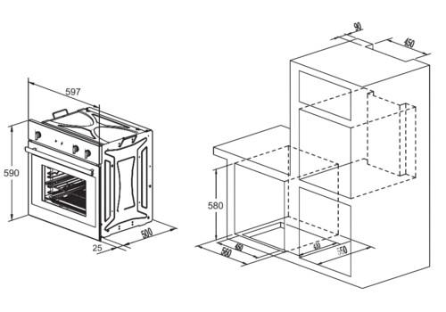 Электрический духовой шкаф Zigmund & Shtain EN 130.922 X бежевый, фото 4