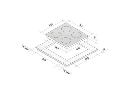 Индукционная варочная поверхность KRONA ETERNO 60 BL, фото 3
