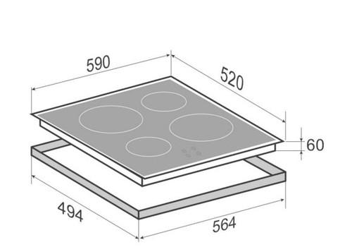 Индукционная варочная поверхность Zigmund & Shtain CI 32.6 W, фото 3