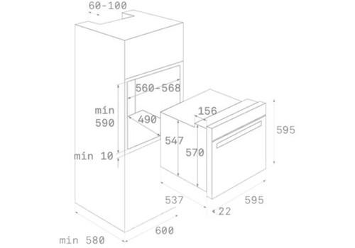Электрический духовой шкаф Teka HRB 6300 ATS черный, фото 3