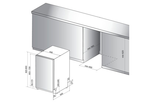Встраиваемая посудомоечная машина 45 см Hotpoint-Ariston HSIC 3M19 C, фото 3
